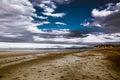 Dreamlike sky cloudy and beautiful beach Royalty Free Stock Photography