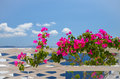 Dreamlike trip to the island of santorini july at this time beautiful weather and landscapes Royalty Free Stock Photos