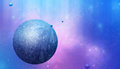 Dreamscape multicolor imaginary space scene art background Stock Images