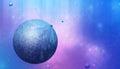 Dreamscape multicolor imaginary space scene art background Stock Images