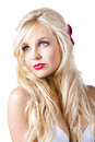 Dreamy blond woman a portrait of a elegant Royalty Free Stock Image