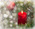 Dreamy image of Christmas candle Royalty Free Stock Photography