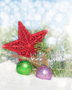 Dreamy image of Christmas decorations Stock Photos