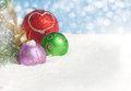 Dreamy image of colorful Christmas ornaments Stock Images
