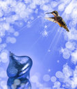 Dreamy image of a Hummingbird Royalty Free Stock Photo