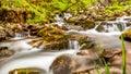 Dreamy waterfall in Scotland Royalty Free Stock Photo