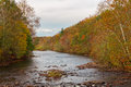 Dreary fall day creek on a Stock Photo