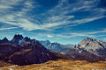 Drei zinnen area dolomite alps italy europe at fall Royalty Free Stock Photography