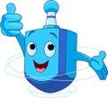 Dreidel character cute wish you a happy hanukkah Royalty Free Stock Image