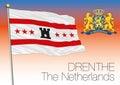 Drenthe regional flag, Netherlands, European union