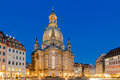 Dresden. Frauenkirche church at night Royalty Free Stock Photo