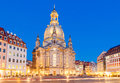 Dresden. Frauenkirche church at night. Royalty Free Stock Photo
