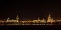 Dresden Germany Europe Cityscape Landscape River Bridge Elbe at night Royalty Free Stock Photo