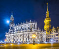 Dresden germany from theatre square Stock Photography