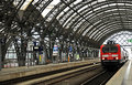Dresden Hauptbahnhof - train platform Royalty Free Stock Photography