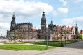 Dresden old city church and castle germany Stock Image