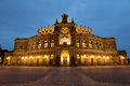 Dresden opera house a photograph of the in lit up at night time the semperoper is the of the saechsische staatsoper Royalty Free Stock Image