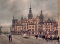 Dresden at winter cloudy day Royalty Free Stock Images