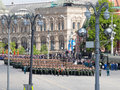 Dress rehearsal of Military Parade of Victory, Russia Royalty Free Stock Photo
