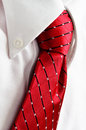 Dress Shirt and Red Tie for Business Stock Photography