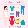 Dress up paper doll with big head pants