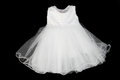 Dress white isolated on black background Royalty Free Stock Image