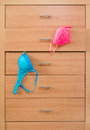 Dresser with bra modern wooden Stock Photography