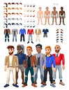 Dresses and hairstyles game with male avatar