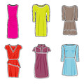 Dresses icon set Stock Images
