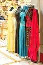Dresses for special events displayed in a shop in turkey Stock Images