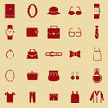 Dressing color icons on brown background stock vector Stock Image