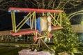 Drewniany sztuka samolot Fotografia Stock