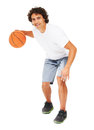 Dribbling the ball Royalty Free Stock Images