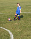 Dribbling Soccer Ball Stock Photos