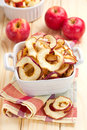 Dried apples and fresh fruits Stock Image