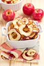 Dried apples and fresh fruits Royalty Free Stock Photos