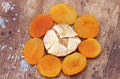 Dried apricot with dried fig Royalty Free Stock Photo