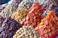 Dried apricots of different colors Royalty Free Stock Photo