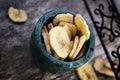 Dried banana fruit Royalty Free Stock Photo