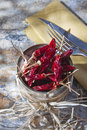 Dried chili presentation of the ingredient prince of the kitchen Royalty Free Stock Image