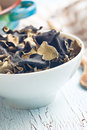 Dried chinese black fungus. Jelly ear