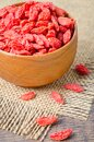 Dried Chinese wolfberries or goji berries Royalty Free Stock Photo