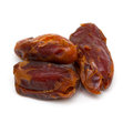 Dried dates over white background Royalty Free Stock Images