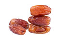 Dried dates on white background Royalty Free Stock Images