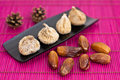 Dried figs and dates Stock Photography