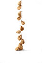 Dried figs turkish in a rope during sun dry Stock Photos