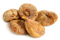 Dried figs on a white background Royalty Free Stock Images