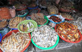Dried fish at the market in Tra Vinh, Vietnam Royalty Free Stock Photo