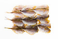 Dried fish preservation on a white background Royalty Free Stock Photography