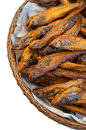 Dried fish various types of sold in the market Royalty Free Stock Photos